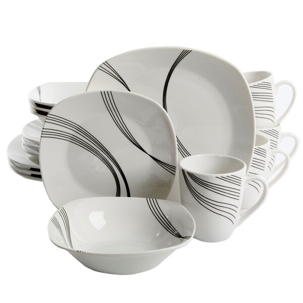 Leeroy 16 Piece Dinnerware Set, Service for 4 by Ebern Designs