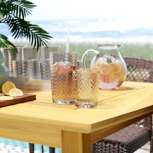 Marshtown Acrylic Assorted Glassware Set by Beachcrest Home