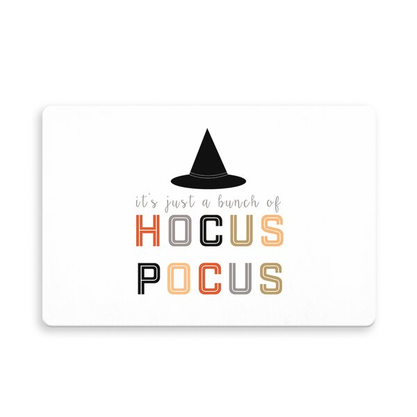 Schaeffer Hocus Pocus Kitchen Mat by The Holiday Aisle