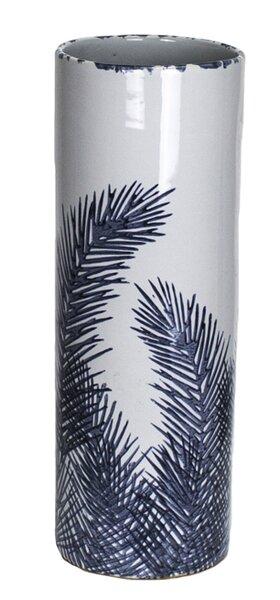 Gray/Blue Ceramic Vase by Donny Osmond Home