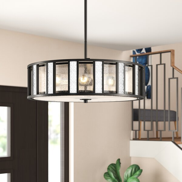 Giambrone 4 - Light Unique / Statement Drum Chandelier By Ivy Bronx