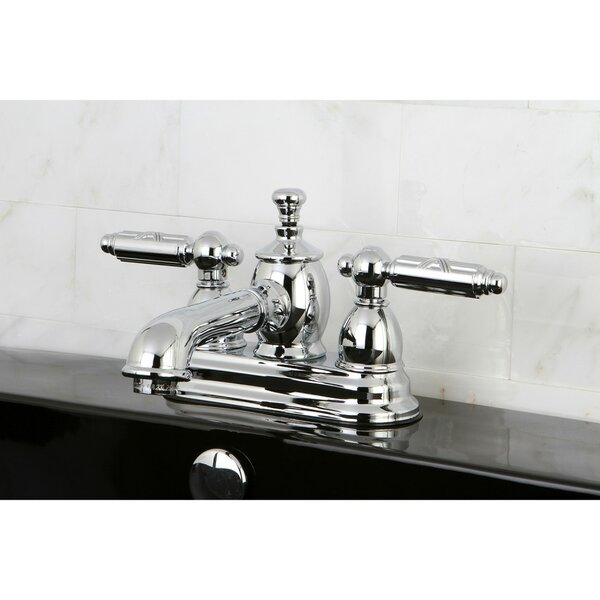 Georgian Centerset Bathroom Faucet With Drain Assembly By Kingston Brass