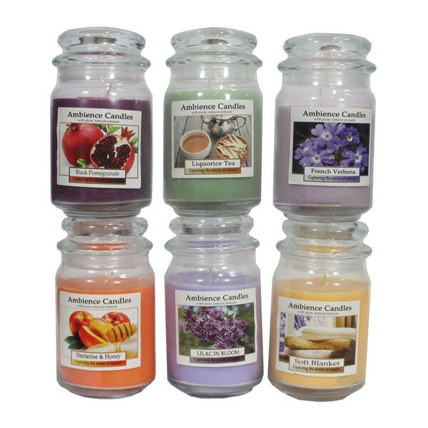 6 Piece Scented Jar Candle Set by ESSENTIAL DÉCOR & BEYOND, INC