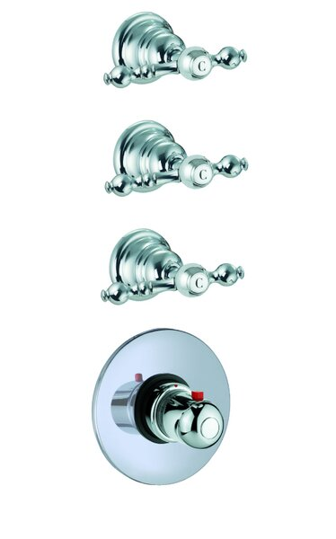 Epoque Built-In Thermostatic Faucet with Three Volume Control Handles by Fima by Nameeks