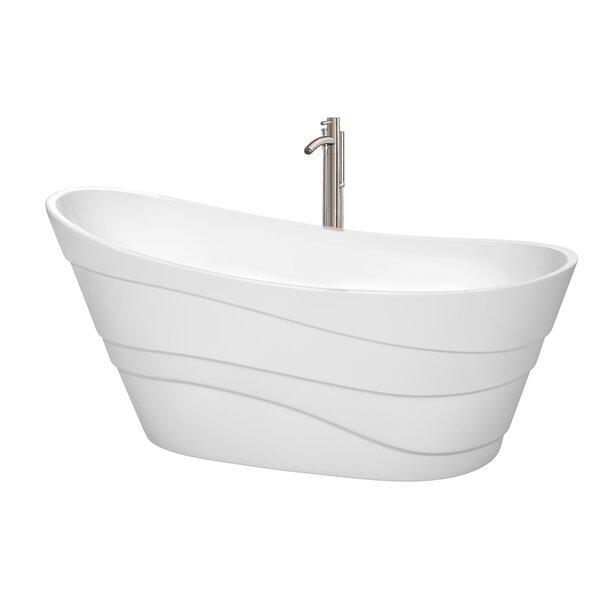Kari 67.25 x 29.25 Soaking Bathtub by Wyndham Collection