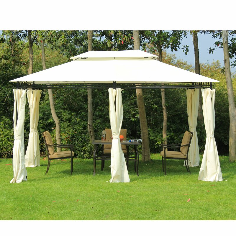 9 8 Ft D Steel Patio Gazebo Canopy
