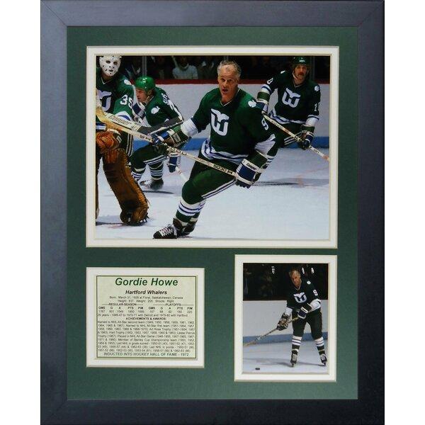 Gordie Howe - Hartford Whalers Framed Memorabilia by Legends Never Die