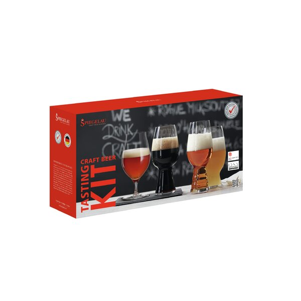 Craft Beer Tasting Kit 4-Piece Glass Assorted Glassware Set by Spiegelau