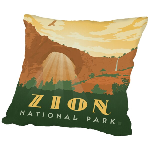 Zion Throw Pillow by East Urban Home