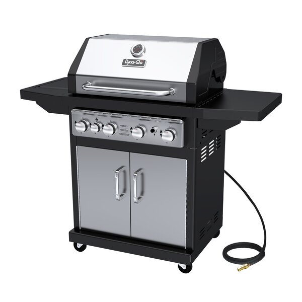 4-Burner Natural Gas Grill with Cabinet by Dyna-Gl