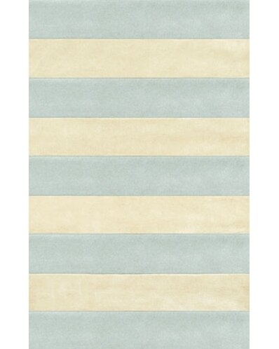 Beach Light Blue/Ivory Boardwalk Stripes Area Rug by American Home Rug Co.