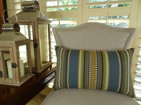Chic Stripe Handmade Throw Pillow by Plutus Brands
