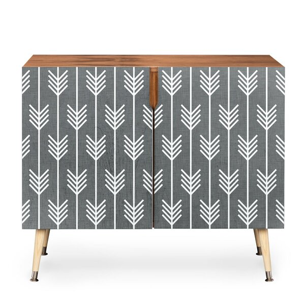 Arrows 2 Door Accent Cabinet by East Urban Home East Urban Home
