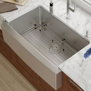 Extra deep kitchen sink wayfair 33 x 21 farmhouse kitchen sink with drain assembly workwithnaturefo