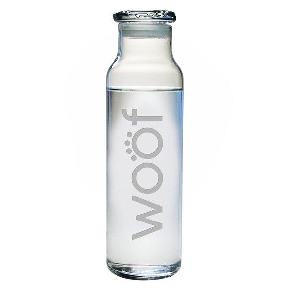 Woof Water Bottle by Susquehanna Glass