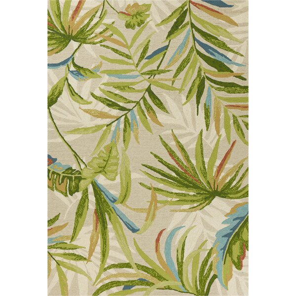 Stromberg Hand-Woven Sand/Green Indoor/Outdoor Area Rug by Bay Isle Home