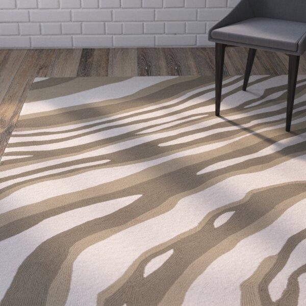 Mireia Beige/Light Gray Indoor/Outdoor Area Rug by Ivy Bronx