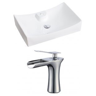 Affordable Ceramic Rectangular Vessel Bathroom Sink with Faucet By Royal Purple Bath Kitchen