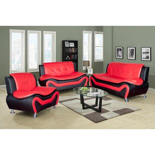 Finck 3 Piece Living Room Set by Orren Ellis Orren Ellis