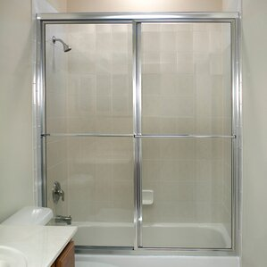 Glass Shower Doors Over Tub shower & bathtub doors you'll love | wayfair