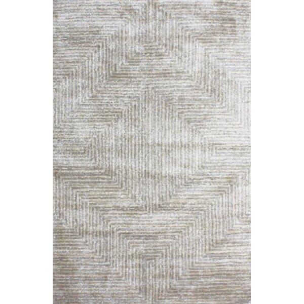 Nasir Hand-Woven Gray Area Rug by Wade Logan