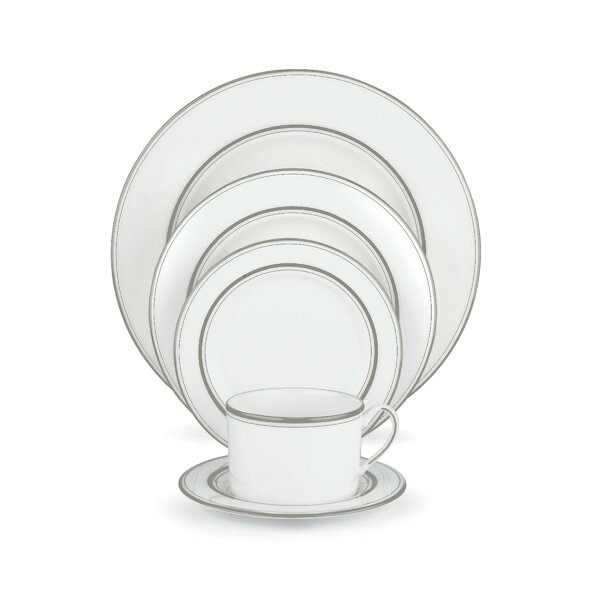 Library Lane Platinum Bone China 5 Piece Place Setting, Service for 1 by kate spade new york