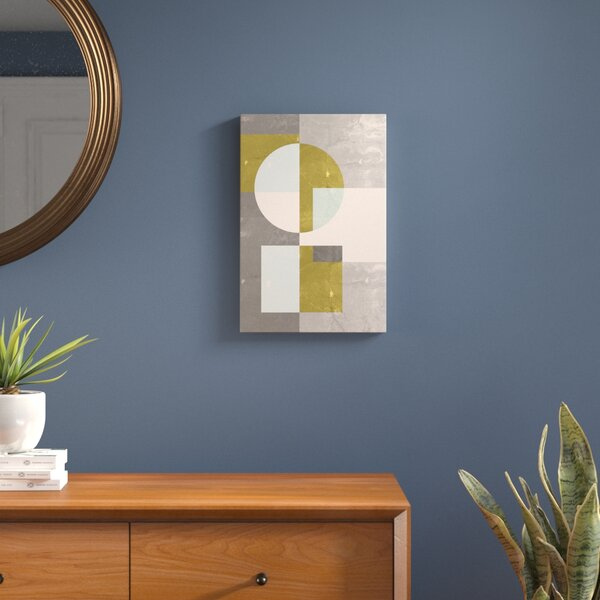 Geometric I Graphic Art on Wrapped Canvas by Langley Street