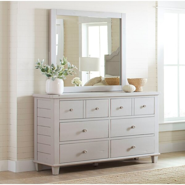 Ginns 8 Drawer Double Dresser with Mirror by August Grove
