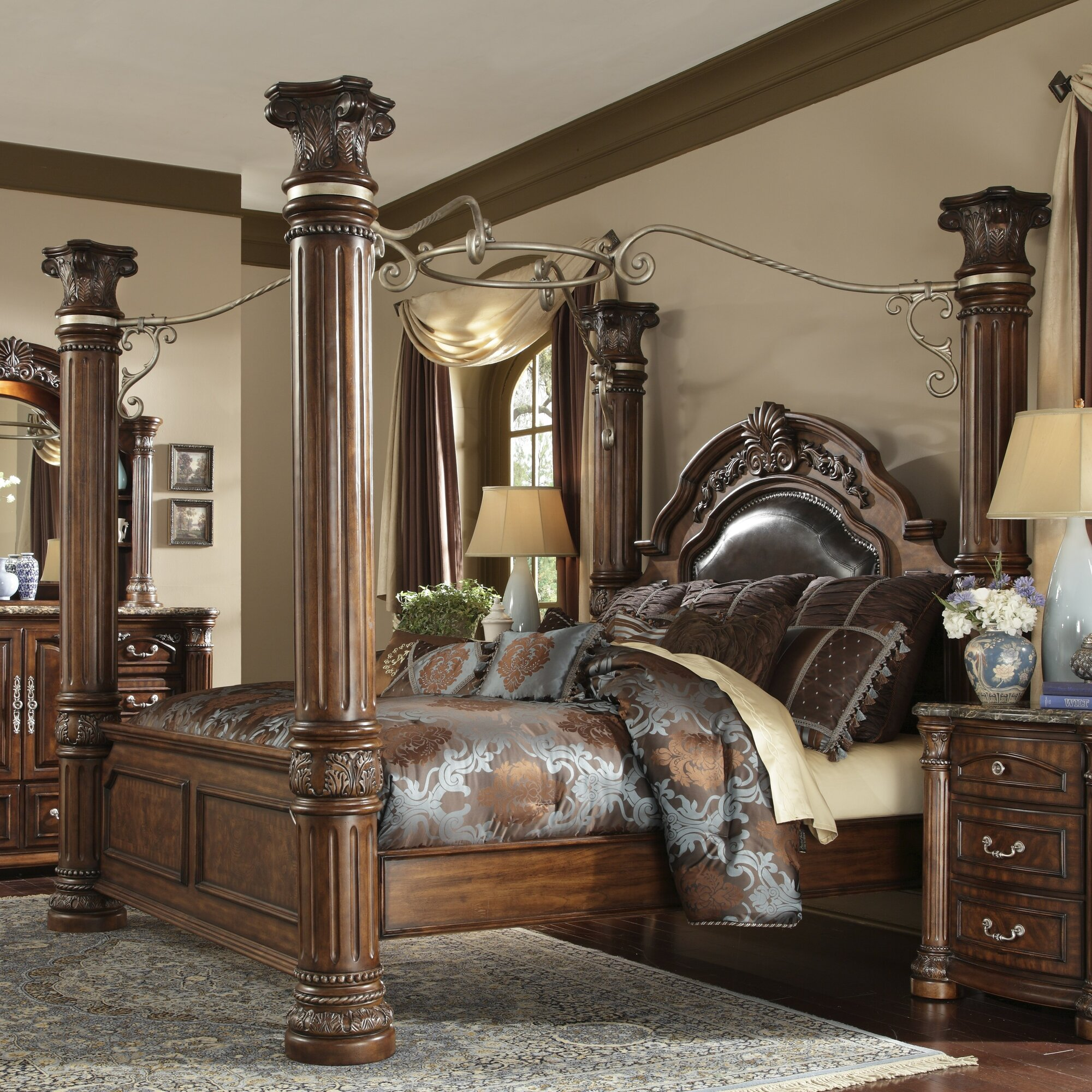 Michael Amini Monte Carlo II Upholstered Canopy Bed