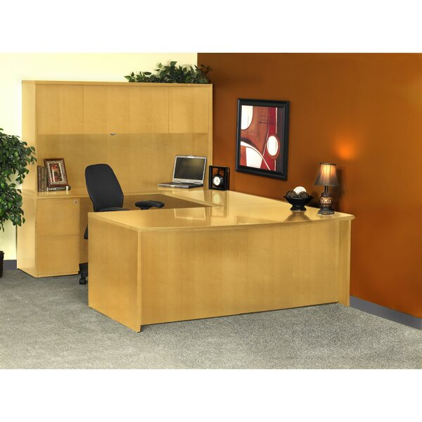Luminary Series U-Shape Executive Desk with Hutch by Mayline Group