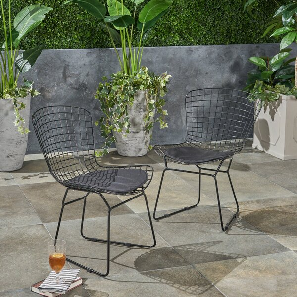 Hively Patio Dining Chair With Cushion (Set Of 2) By Ebern Designs