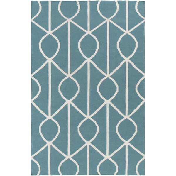 Murrill Blue Area Rug by Ebern Designs