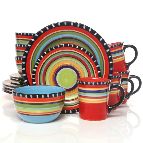 Doumet 16 Piece Dinnerware Set, Service for 4 by World Menagerie