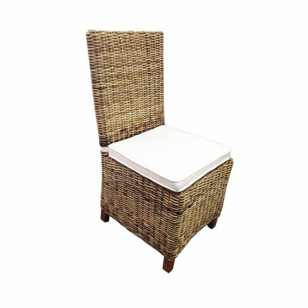 Aiden Rattan Wicker Patio Dining Chair With Cushion By Bay Isle Home