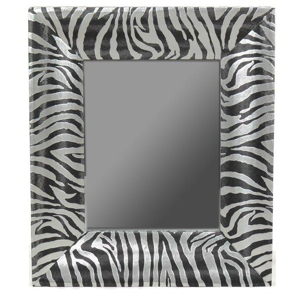 Morena Zebra Print Wall Mirror by Bloomsbury Market
