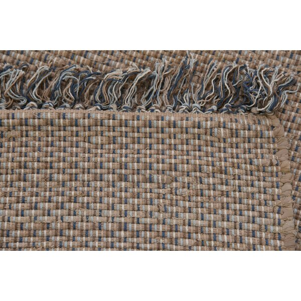 Bridgman Hand woven Wool Brown/Blue Area Rug by Gracie Oaks