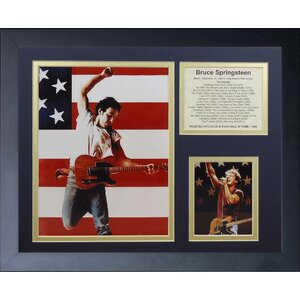 'Bruce Springsteen' Framed Memorabilia by Red Barrel Studio