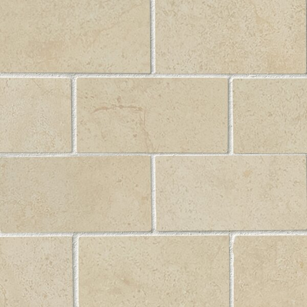Aria Cremita 2 x 4 Porcelain Mosaic Tile in Beige by MSI