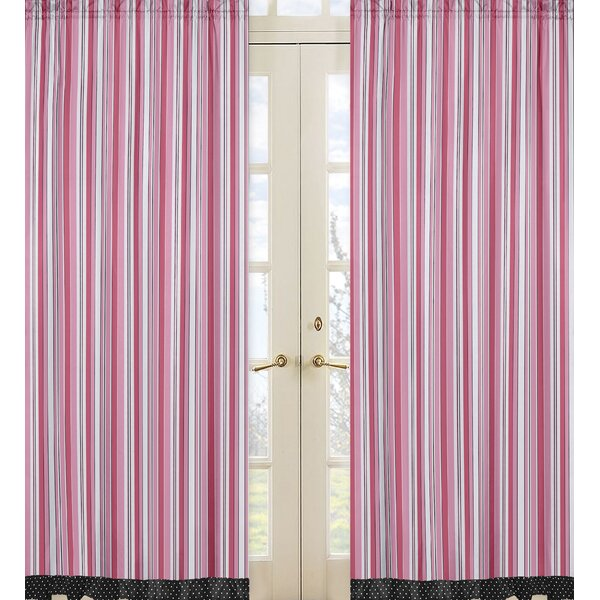 Madison Striped Semi-Sheer Rod Pocket Curtain Panels (Set of 2) by Sweet Jojo Designs