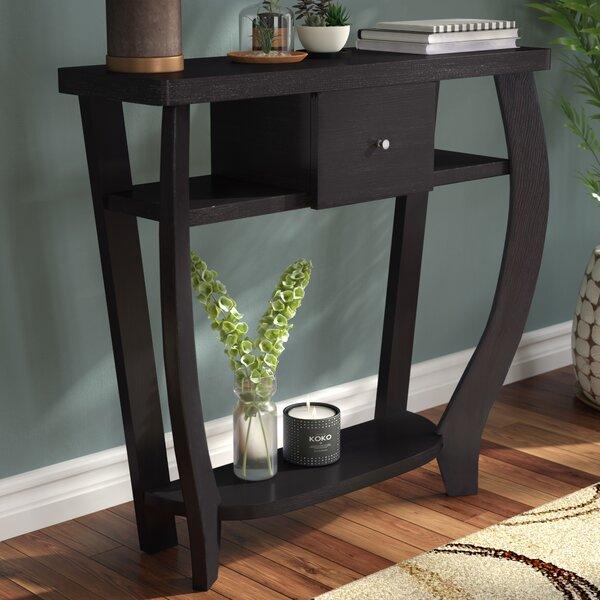 Hubbard Wood Grain Console Table by Ebern Designs