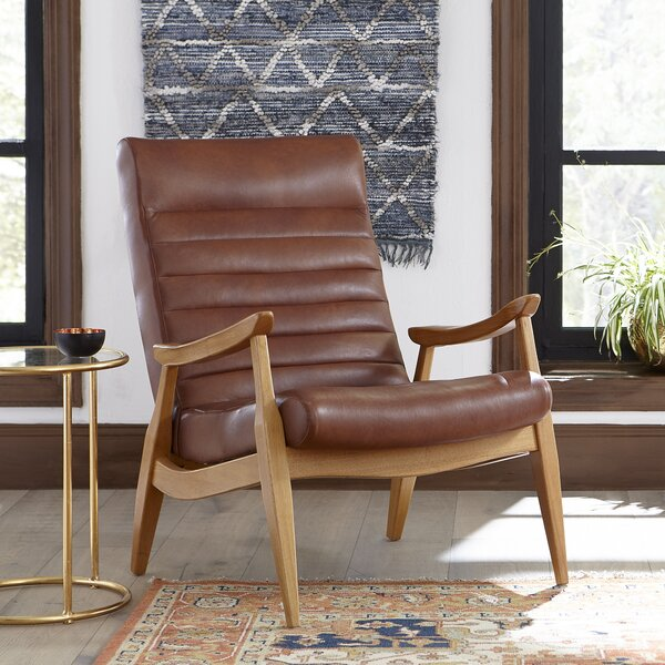 Hans Leather Armchair by DwellStudio