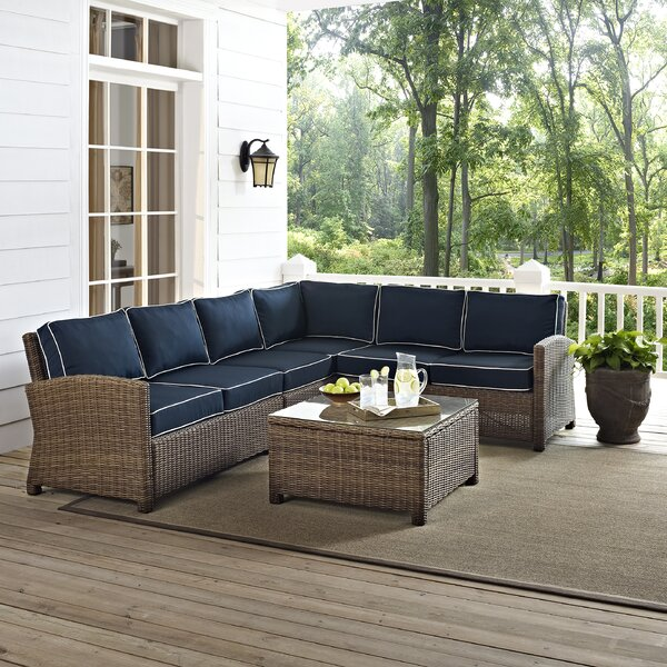 Dardel 5 Piece Sectional Seating Group with Cushions by Beachcrest Home
