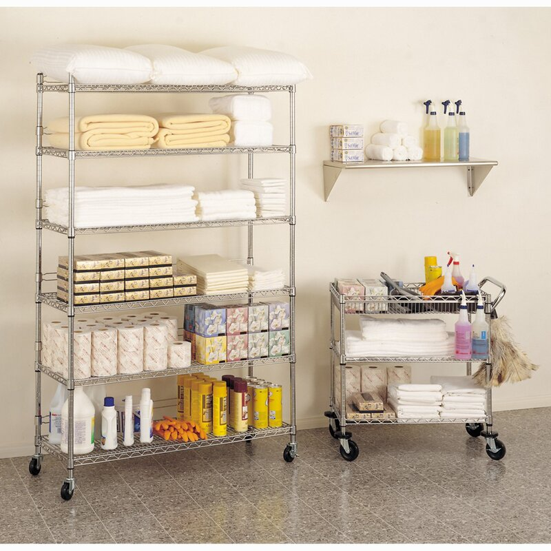 Seville Classics 6-Tier UltraZinc™ NSF Steel Wire Shelving with ...