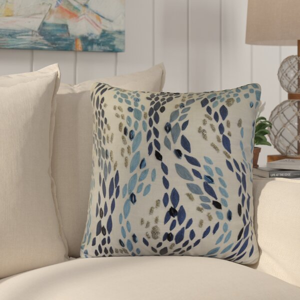 Hendren Barbary Leopard Embroidered Cotton Throw Pillow by Highland Dunes