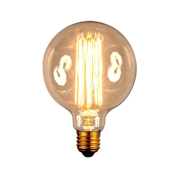 40W Amber E26 Incandescent Vintage Filament Light Bulb by Aspen Brands