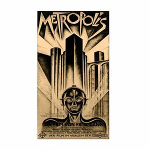 Metropolis Framed Vintage Advertisement on Wrapped Canvas by Trademark Fine Art