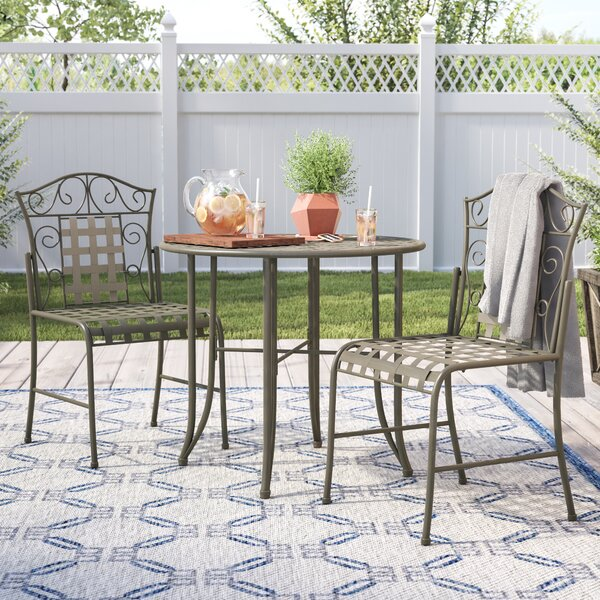 Saundra 3 Piece Bistro Set By Fleur De Lis Living