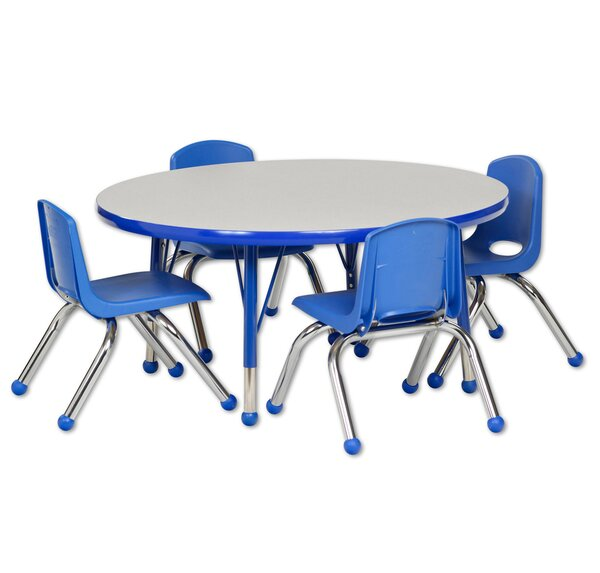 5 Piece Circular Activity Table & 14 Chair Set by ECR4kids
