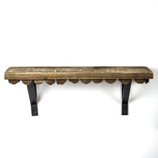 Mateer Scalloped Wood Rustic Floating Shelf ByUnion Rustic