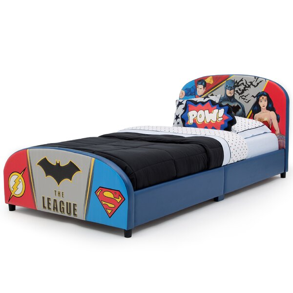 DC Comics Justice League Upholstered Twin Panel Bed by Delta Children